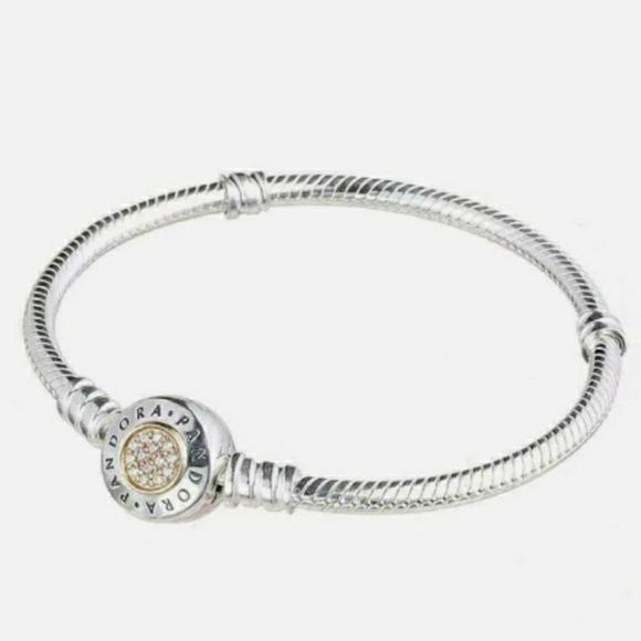 Pandora signature two-tone charm bracelet.